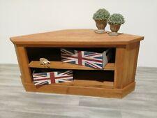 Oak Corner TV Stand | Media Cabinet | Entertainment Table |Solid Wood Unit