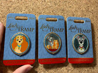 Disney LADY AND THE TRAMP 65th Anniversary 3 Pin Set – LE 4000 Family Portraits