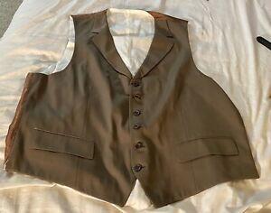 Brioni Suit Vest Sz L Taupe See Measurements