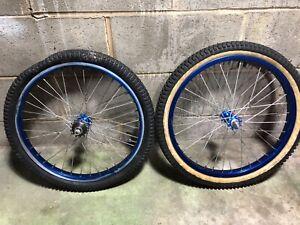 1981 Araya Wheels 20 x 1.75 Shimano Hubs Freewheel OG Blue Supergoose Old School