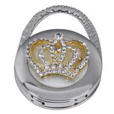 Round Folding Crown Handbag Bag Purse Table Hook Hanger Holder F8S5