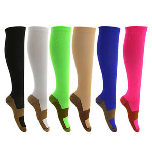 2pairs Sports Women Men Compression Socks  20-30mmhg Long Knee  Medical Nursing