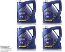 8 (2x4) Litre MANNOL 10w-40 4-takt Plus huile de Moto Jaso Ma2