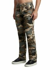True Religion RICKY FLAP BIG T STRAIGHT Camouflage Canvas Jeans RRP £180 W33 L32