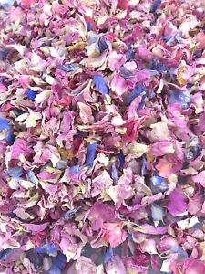 Pink Lilac Rose Petals Natural Biodegradable Wedding Confetti Dried Flower