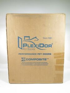 "Plexidor Wall Large White Dog Pet Door 11 3/4"" x 16"" Opening"