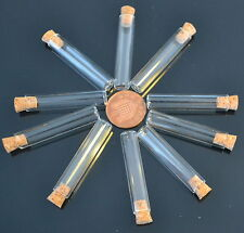 10 1.5ml glass test tube bottles cork topped small storage