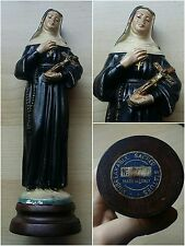 *NH* Arte sacra - statuina Santa Rita - legno - Unbreakable Sacred Statues