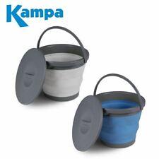 Kampa Collapsible 5 Litre Bucket With Lid 5L Folding Bin Camping Caravan