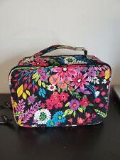 Vera Bradley Black Floral Double Zip Makeup Organizer Bag