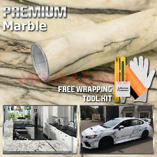 "*48""x120"" Matte Marble Granite Look Vinyl Wrap Contact Paper Home Kitchen D09-1"