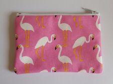 Pink Flamingo Fabric Handmade Zippy Coin Purse Storage Pouch