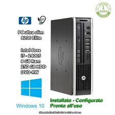 HP 8200 ELITE USDT MINI PC i5 8GB RAM 250GB HDD DVD-R WIN 10 PRO