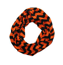 Orange & Black Chevron Infinity Scarf