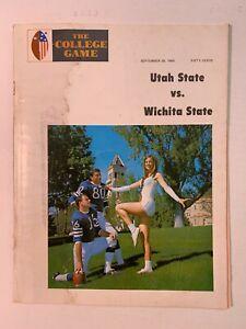 1968 Utah State vs Wichita State Football Program FAIR+ Condition