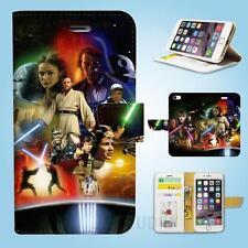 iPhone SE 6 6S 7 8 X Plus 5 5S 5C 4 4S Wallet Case Cover Star Wars W047