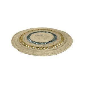 Rug Round Natural Reversible 100% Jute Stylish Braided Living Modern Look Rug