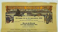 1914 Letterhead Riverside County Fair CA Ellis Fire Insurance Church Water Co