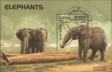 Laos Bloc 162 oblitéré 1997 éléphants