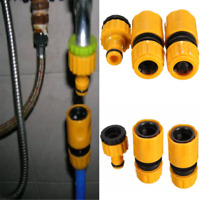 "3PCS 1/2""3/4"" Garden Hose Water Pipe Quick Connector Tube Fitting Tap Adapter"