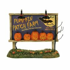 Department 56 Lit Pumpkin Patch Billboard 4057629 Halloween Dept New