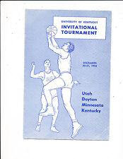 1955 Kentucky vs Utah Dayton Minnesota basketball program NBA7