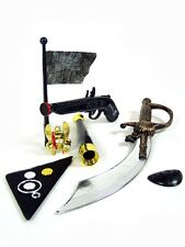 11-tlg Kinder Piratenset Dolch 43 cm Säbel Pistole Fahne Seeräuber PIRAT Kostüm