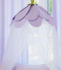 Pottery Barn Kids Bed Canopy Rose Lavender Purple Petal Flower White Tulle NEW