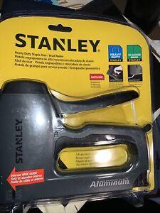Stanley Heavy Duty TR250 Staple Gun/Brad Nailer Aluminum Anti-Jam Soft Grip