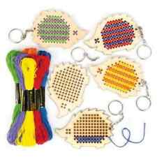 5 X De Madera Erizo llavero kits de punto de cruz-Ideal Niños Craft