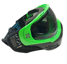HK Army Paintball Airsoft KLR Mask Goggle - Blackout Neon Green