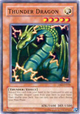 3X YuGiOh Thunder Dragon - DB2-EN058 - Common - Unlimited Ed LP Lightly Played