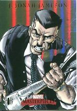 Marvel Masterpieces 2007 Spiderman Foil Parallel Chase Card S7 J Jonah Jameson