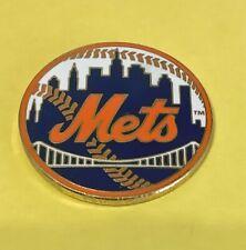 NEW YORK METS MLB BASEBALL NY CITY SKYLINE LOGO VINTAGE LAPEL PIN