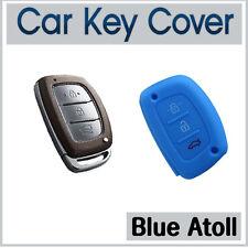Silicone Case Cover SMART Key Hyundai IX35 IX45 I40 Elantra Accent SantaFe-BLUE