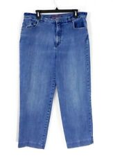 Gloria Vanderbilt Women's Jeans Mid Rise Straight Leg Medium Wash Blue Size 16