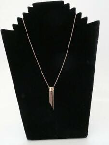 """Contemporary Project D Rose Gold Sterling Silver 30"""" Adjustable Tassel Necklace"""
