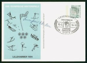 MayfairStamps Germany 1994 Lillehammer Winter Games Autographed Cover wwp80791