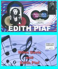 Edith Piaf  First Day Cover with Color Cancel Type 2