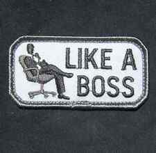 LIKE A BOSS TACTICAL US ARMY MORALE COMBAT SWAT VELCRO® BRAND FASTENER PATCH