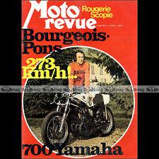 MOTO REVUE N°2163 SANGLAS YAMAHA TZ 750 KAWASAKI 400 MK2 S3 MICHEL ROUGERIE 1974