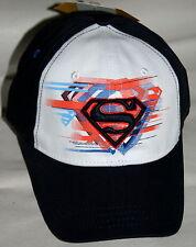 Navy Blue Superman DC Comics Baseball Cap Hat New 2008 Youth Size