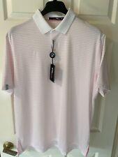 RLX Ralph Lauren Biltmore Golf Shirt XL Pink Stripe