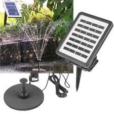 CLGarden NKASP2 Solar Springbrunnen Pumpe mit Akku LED für Garten Teich Brunnen