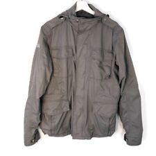 Spiewak Mens Large Field Utility Jacket Gray Hidden Hood Cargo Full Zip