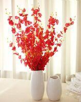 Dancing Butterfly Orchid Artificial Flower Flourish Floral Art Decor Pretty G9A
