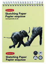 Derwent Wire Bound Sketch Pad with 30 Sheets 165gsm Drawing Paper A5