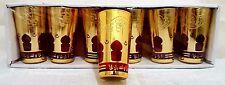 6 Orientale Marocchina Bicchieri da Tè Lanterna a Vento Occhiali Rosso Oro Tè