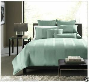 NIOP Hotel Collection Classic Stripe Frost Quilted Euro Pillow Shams