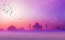 STUNNING TAJ MAHAL INDIAN SUNSET CANVAS #191 CANVAS PICTURE A1 SIZE WALL ART